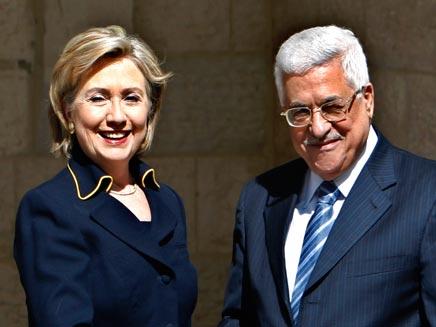 אבו מאזן ומזכירת המדינה היוצאת (צילום: רויטרס)