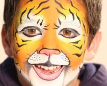 תחפושת נמר- איפור פנים של איל מקיאג' (צילום: עופר מתתיהו)