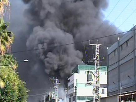 """שריפה בת""""א, ארכיון (צילום: חדשות 2)"""