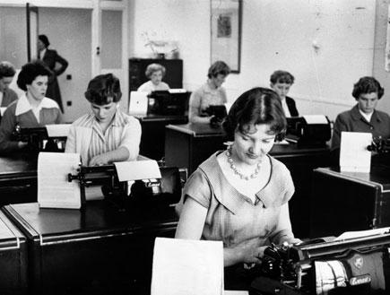 מזכירות (צילום: Bert Hardy, GettyImages IL)