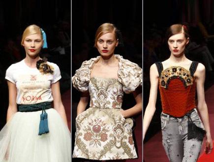 דולצ'ה וגבאנה מתוך שבוע האופנה במילאנו 2009 (צילום: רויטרס)