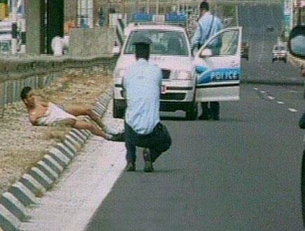 נהג מסוכן הקפיץ את השוטרים (תמונת AVI: חדשות)