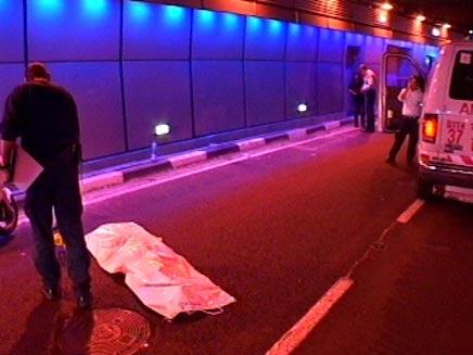 תאונת דרכים בתל אביב (חדשות 2) (צילום: חדשות 2)