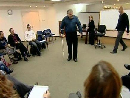 מנחם הורוביץ ואלון גל - על קאוצ'ינג (צילום: חדשות 2)