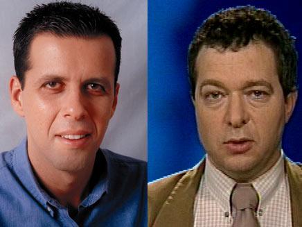מוטי מורל ורונן צור יועצי תקשורת של קצב שהתפטרו (צילום: חדשות2)