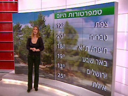 מזג אוויר אילנית (צילום: חדשות 2)