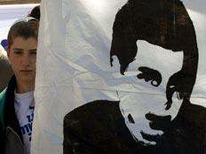 אוהל המחאה של גלעד שליט מול משרד רה