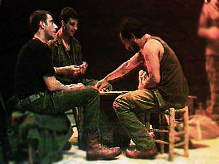 הצגה בה המשתתפים הם חיילים (חדשות 2) (צילום: חדשות 2)