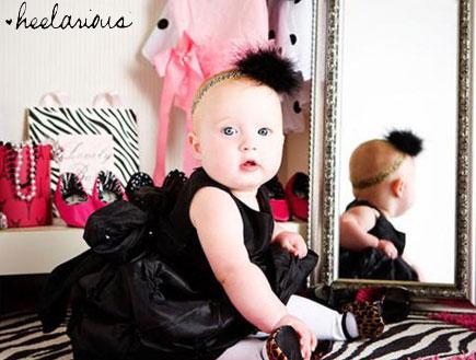 עקבים לתינוקות (צילום: מתוך אתר www.heelarious.com)
