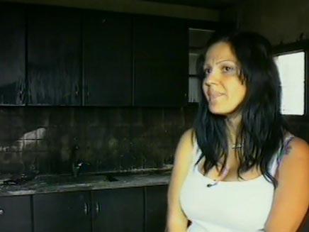 דירה שרופה (צילום: חדשות 2)