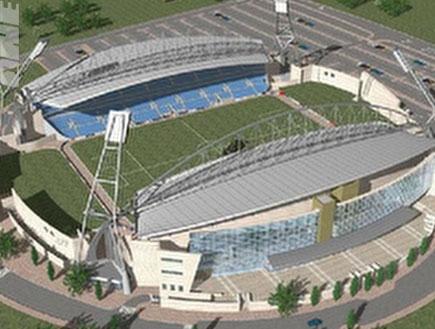 האצטדיון החדש בנתניה - הדמיה (צילום: מערכת ONE)
