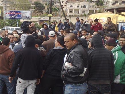 צעדת פעילי ימין באום אל פאחם (צילום: חדשות 2 - יוסי זילברמן)