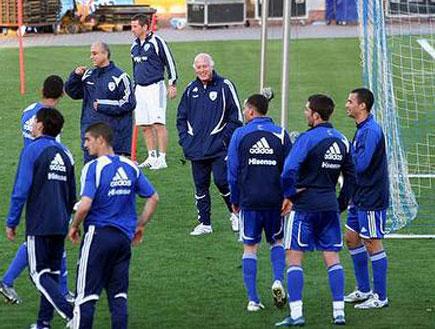 אימון נבחרת ישראל לפני הנסיעה ליוון (צילום: דורון בן דור, מערכת ONE)