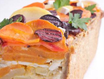 ירקות שורש וגבינות-קמח מצה (צילום: דרור כץ)