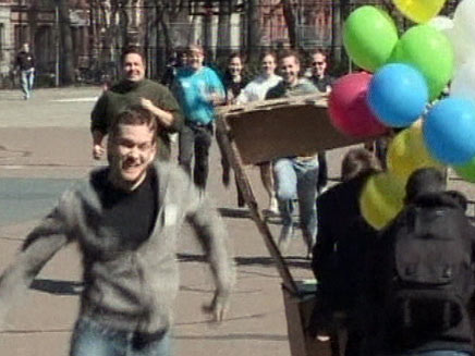 אולימפיאדת המובטלים בניו יורק (צילום: חדשות 2)