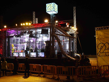 האולפן השקוף לילה (צילום: עודד קרני)