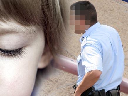 אילוסטרציה - שוטר - ילדה (צילום: שי פוקס)