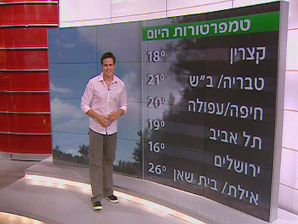 תחזית מזג אויר - דני דויטש (צילום: חדשות 2)