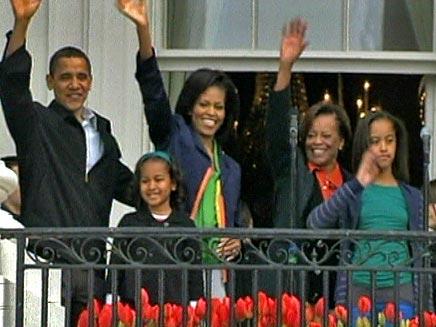 משפחת אובמה בחג הפסחא (צילום: חדשות 2)