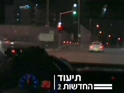 נתפס על מהירות (צילום: חדשות 2)