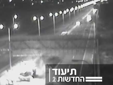 תאונת דרכים (צילום: מצלמת אבטחה)