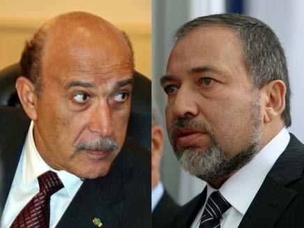 עומר סולימאן ואביגדור ליברמן (צילום: רויטרס)