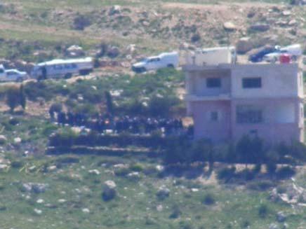 הלוויה דרוזית בצד הסורי (צילום: פוראת נאסאר - חדשות 2)