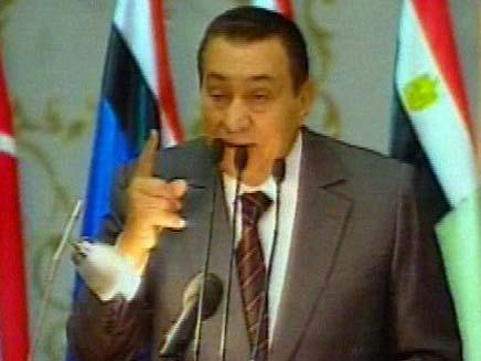 מובארק נשיא מצריים (צילום: חדשות 2)