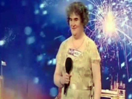 סוזן בויל מתמודדת בתכנית ריאליטי (חדשות 2) (צילום: חדשות 2)