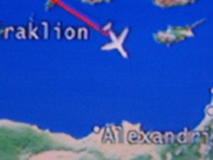 """צילום מסך בטיסה מאנגליה לישראל של BMI (צילום: מתן חודרוב,גלי צה""""ל)"""