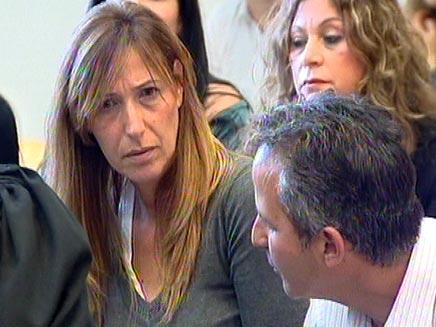 """הוריה של שקד שלחוב ז""""ל בבית המשפט (צילום: חדשות 2)"""