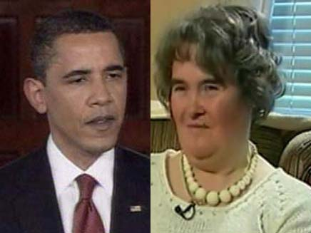 סוזן בויל סירבה להזמנה של אובמה (צילום: חדשות 2)