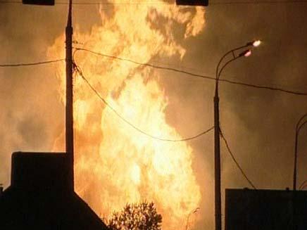 שריפה ברוסיה (צילום: חדשות 2)