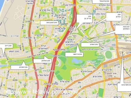 מפת חניונים להופעה של דפש מוד בארץ (צילום: משטרת ישראל)