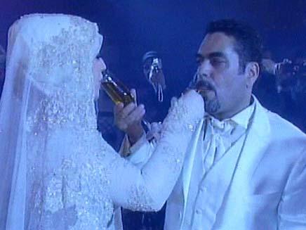 סמיר קונטאר ואשתו בחתונתם (צילום: חדשות 2)