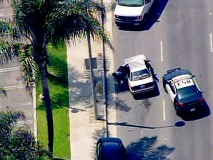 מרדף מכוניות בלוס אנג'לס (צילום: חדשות 2)