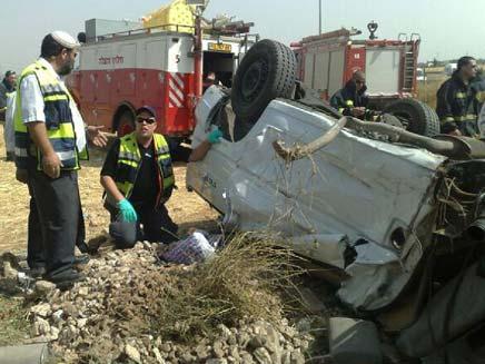 תאונת דרכים קטלנית בכניסה לכפר סבא (צילום: חדשות 2)