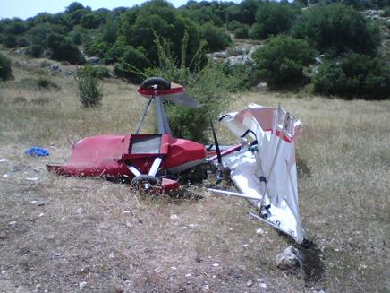 מטוס התרסק באזור לכיש (צילום: חדשות 2)