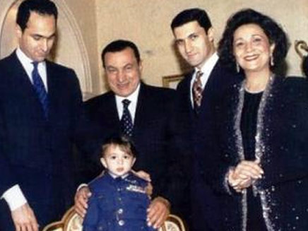 האלבום המשפחתי. סוזאן, מובארק והילדים (צילום: חדשות 2)