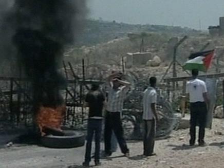 הפגנה בבלעין (צילום: חדשות 2)