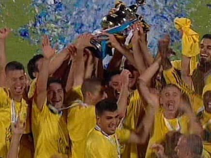 ביתר ירושלים מחזיקת גביע המדינה (צילום: חדשות 2)