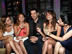 חיים אתגר והבנות, הבלוק, ערוץ 10, אירוע השקה (צילום: עודד קרני)