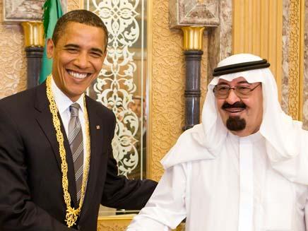 אובמה בערב הסעודית (צילום: רויטרס)