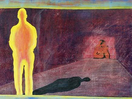 ציור של בחור שהתעורר מניתוח ולמד לצייר (צילום: dailymail)