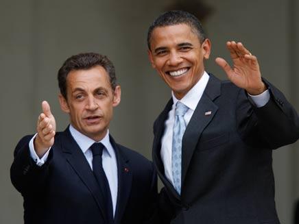 אובמה וסרקוזי (צילום: חדשות 2)