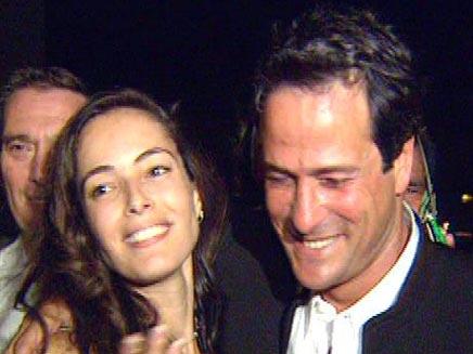 דודו טופז ורוני חן בחתונתם (צילום: חדשות 2)