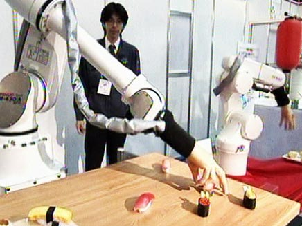 רובוט סושי שף (צילום: חדשות 2)