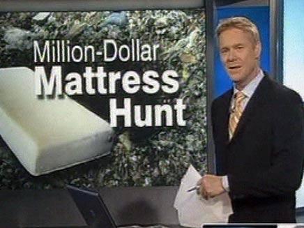 מזרן שנזרק עם מיליון דולר (צילום: חדשות 2)