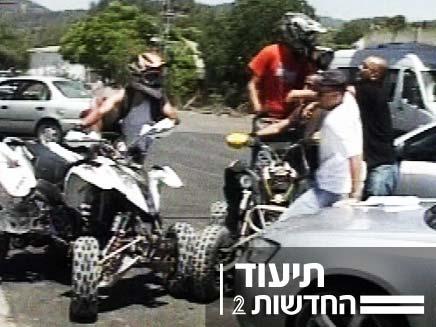 השתוללות של נהגי טרקטורונים בכבישים (צילום: חדשות 2)