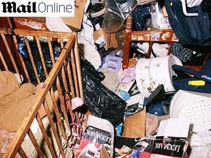 בית מלוכלך ומבולגן (צילום: daily mail)